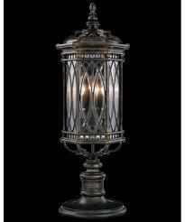 Outdoor Post Light Fixtures by Fine Art Lamps 611283 Warwickshire 11 Inch Wide 3 Light Outdoor