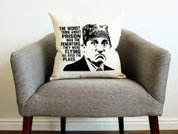 the office tv show michael scott prison mike pillow home decor