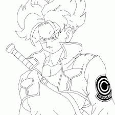 11 pics of dbz future trunks coloring pages trunks dragon ball z