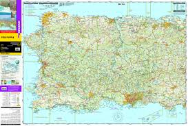 Puerto Rico On A Map by Puerto Rico National Geographic Adventure Map National