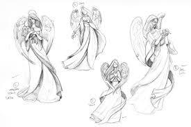 pencil sketches angels drawing art u0026 skethes
