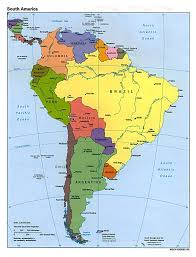Detailed Map Of Spain by Maps Of South America And South American Countries Political