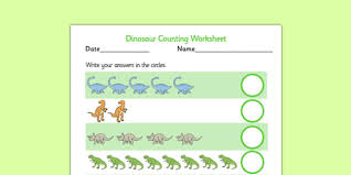 my counting activity sheet dinosaurs counting worksheet