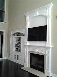 interior crown molding fireplace with remarkable faux brick