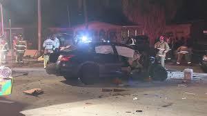 lexus service north miami 1 killed 8 others hurt in 6 vehicle crash in miami gardens