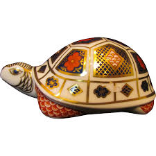Tortoise Home Decor Royal Crown Derby Imari Turtle Paperweight From Oldstonemansion On