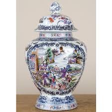 canton porcelain blue canton porcelain lidded jar