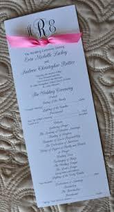 Sample Wedding Program Sample Wedding Programs Sample Wedding Programs
