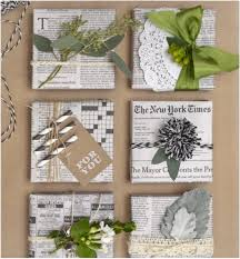 newspaper wrapping paper diy eco gift wrapping trusted clothes