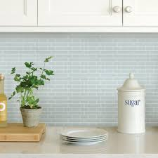 blue backsplash tile blue sea glass peel stick backsplash tiles