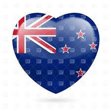 New Zealand New Flag I Love New Zealand Heart With Flag Design Royalty Free Vector