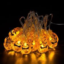 Orange Icicle Lights Halloween by Amazon Com Jhua 20 Led Orange Pumpkin Lights 80inches 3d Pumpkin