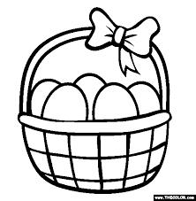 easter basket easter basket coloring page free easter basket online coloring