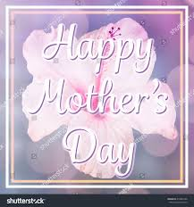 happy mothers day message on flower stock photo 418089166
