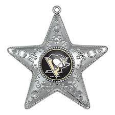 pittsburgh penguins silver ornament steel city collectibles