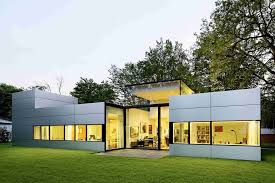single story house modern single story cubical house with a metal facade in cologne