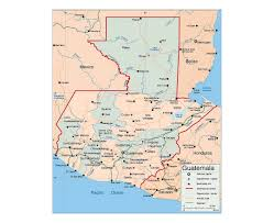 geographical map of guatemala maps of guatemala detailed map of guatemala in tourist