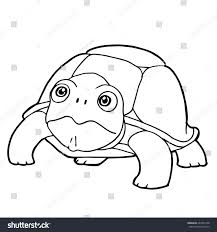 cartoon cute turtle coloring page vector stock vector 683743168