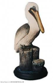 lifesize brown pelican sitting large statue by chrisdixonstudios
