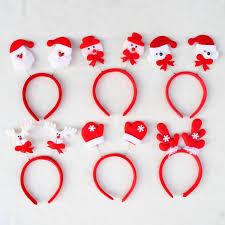 fashion christmas hair accessories santa claus snow men elk