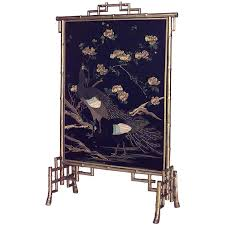 19th century french gilt faux bamboo fire screen for sale at 1stdibs