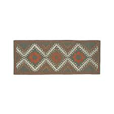 bessie wool kilim 2 5 u0027x7 u0027 rug runner crate and barrel