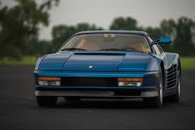 blue ferrari miami vice director u0027s ferrari testarossa looks more sophisticated