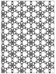 free printable geometric floral stars coloring