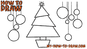 how to draw a christmas tree card easy step by step drawing