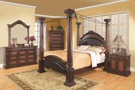 king poster bedroom set coaster grand prado king poster bed w upholstered panels