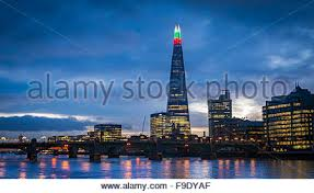 red and white alternating christmas lights the shard building light s up for christmas with alternating green