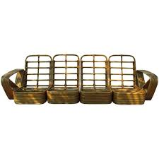 sofa rattan rattan sectional sofa by paul frankl at 1stdibs