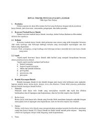 artikel format paper ilmiah penulisan karya ilmiah