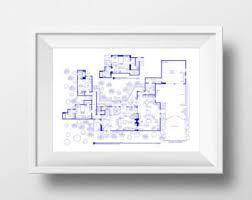tony soprano house floor plan sopranos house plan poster tv show floor plan by tvfloorplans
