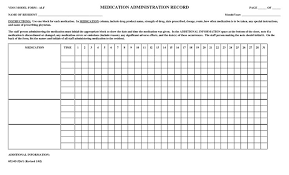 Controlled Substance Log Sheet Template Medication Log Sheet Template