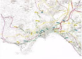 Napoli Map by Naples Metro System Unofficial Page With Frames