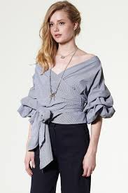 Latest Trends by Vivian Ruched Sleeve Top Discover The Latest Fashion Trends Online