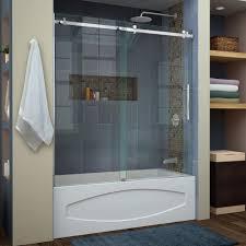 Glass Shower Doors Milwaukee by Kohler Levity 60 In X 62 In Semi Frameless Sliding Tub Door In