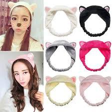 headbands for hair women men beauty cat ear hair band wash makeup headband ebay