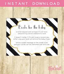 black and white baby shower printable bring a book instead of a