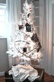 small white christmas tree my white christmas tree of gratitude funky junk