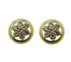 trendy gold earrings gold diamond earrings exquisitely beautiful diamond earrings