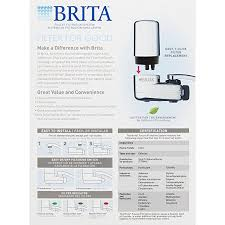 Water Faucet On Fire Brita On Tap Chrome Water Faucet Filtration System Fits Standard