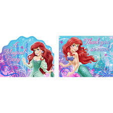 Post Card Invites Amazon Com Little Mermaid Sparkle Party Invitations U0026 Thank You