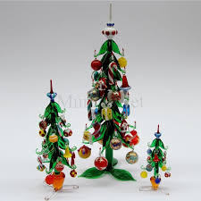 tree with hanging decorations cm 33 murano glass