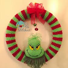 free pattern this cool grinch wreath is clearly one of a