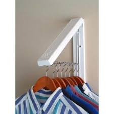 Space Saving Laundry Ideas White by Instahanger White Abs Plastic Collapsible Wall Mounted Clothes