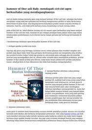 hammer of thor asli italy mendapati ciri ciri agen berkualiatas