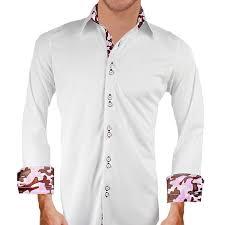 white pink camo dress shirt
