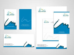 creatively designed a creatively designed unique corporate identity for im island by